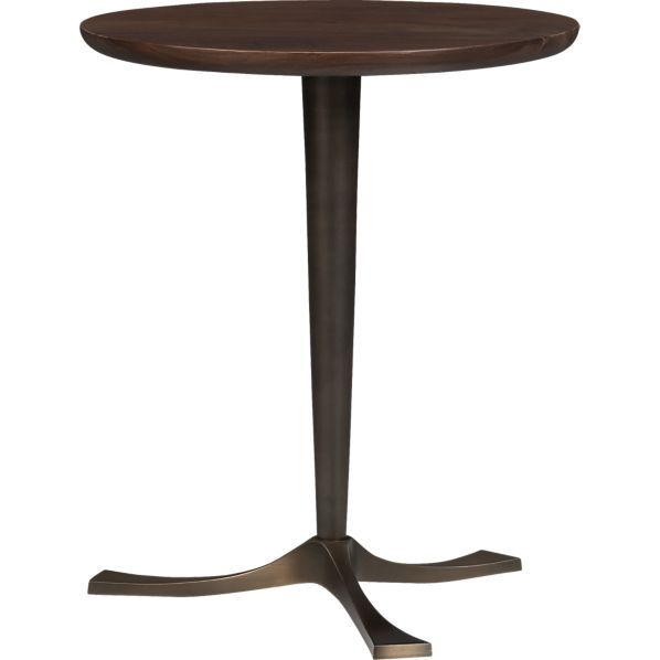 Etonnant Bel Air Pedestal Table In Side, Coffee Tables | Crate And Barrel Loft?