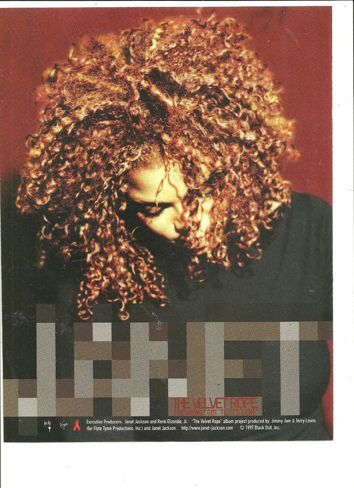 Janet Jackson, The Velvet Rope, Full Page Promotional Ad