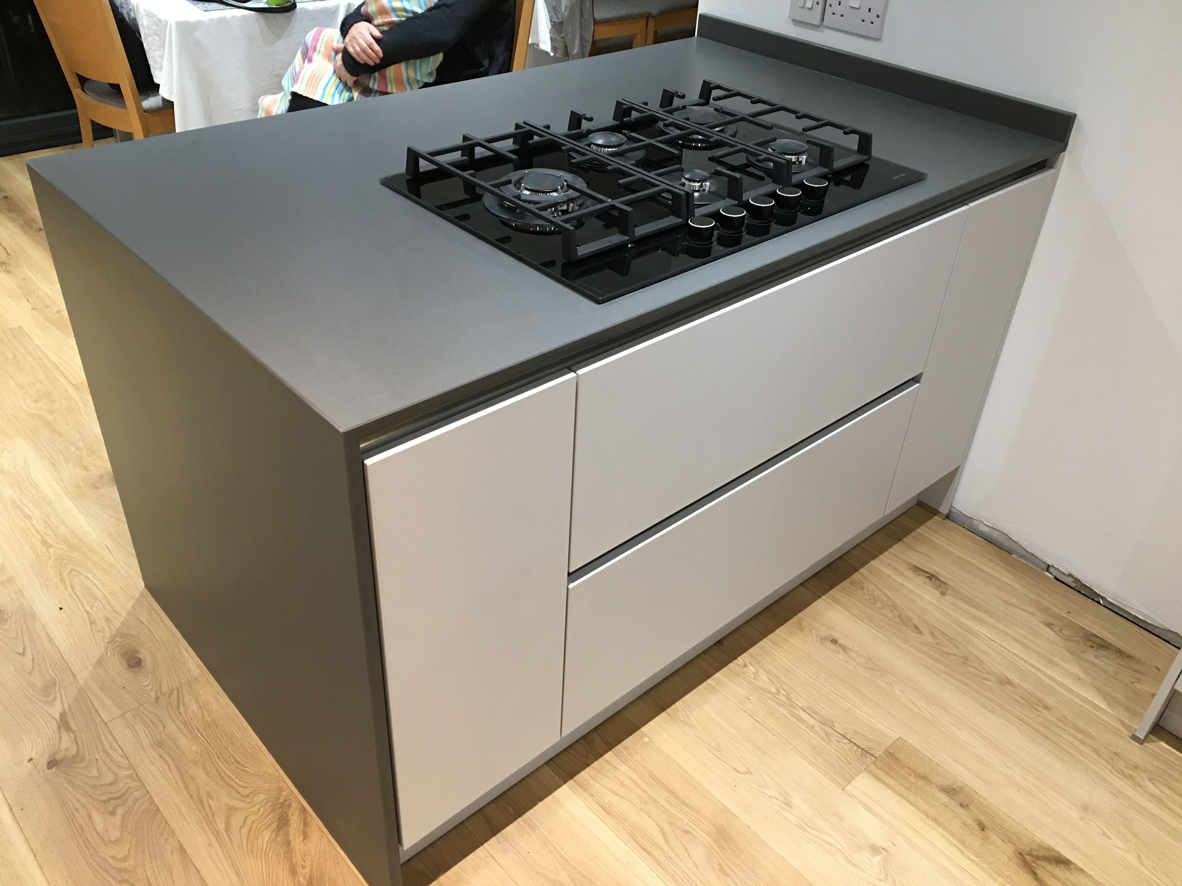 Silestone worktops installed in Chester. Cemento spa 20mm grey ...