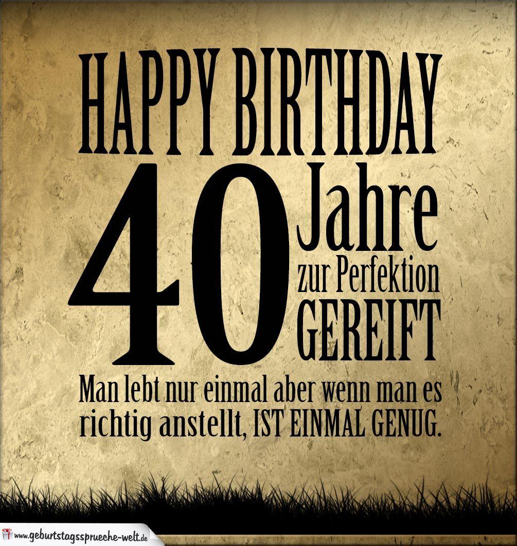 Geburtstagskarte Lustig 40 Elegant 40 Geburtstag Retro