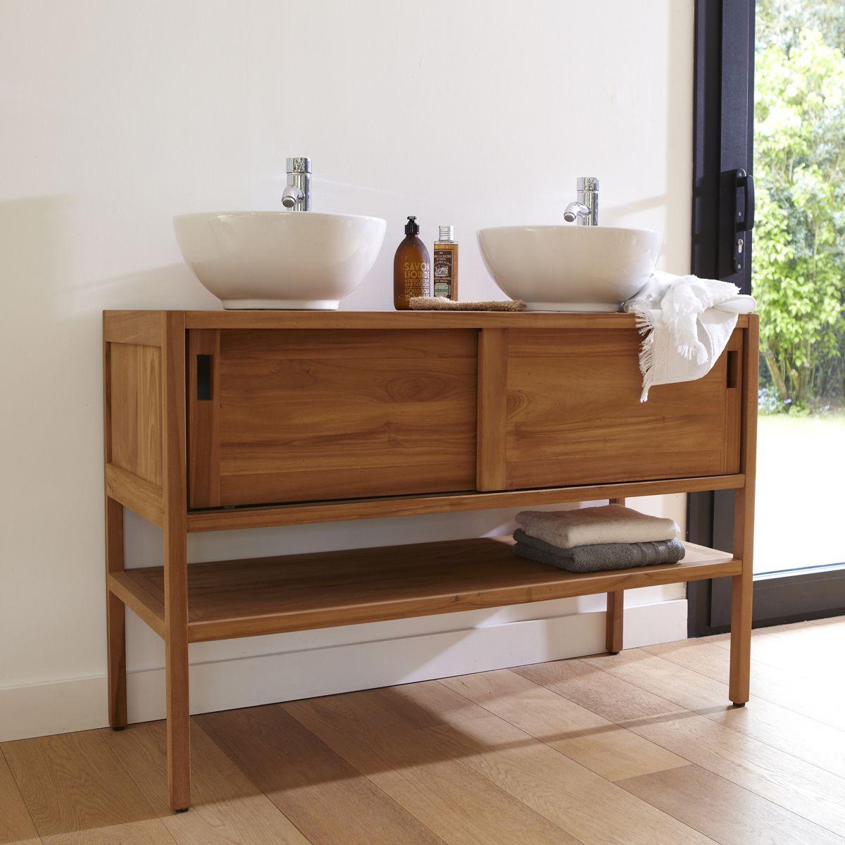 Waschtischplatte mit schublade gäste wc  Waschtisch aus Teak 120 Arty | Bad | Pinterest | Gäste wc, Gast ...