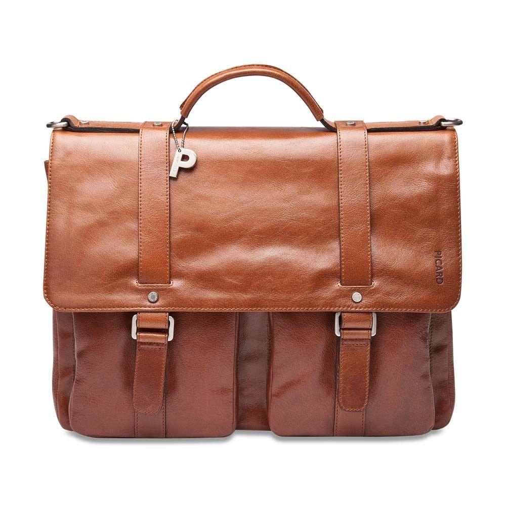 f97c06f83c1d8 Details zu Aktenkoffer Herren Leder Handtasche Picard Buddy 4539 ...