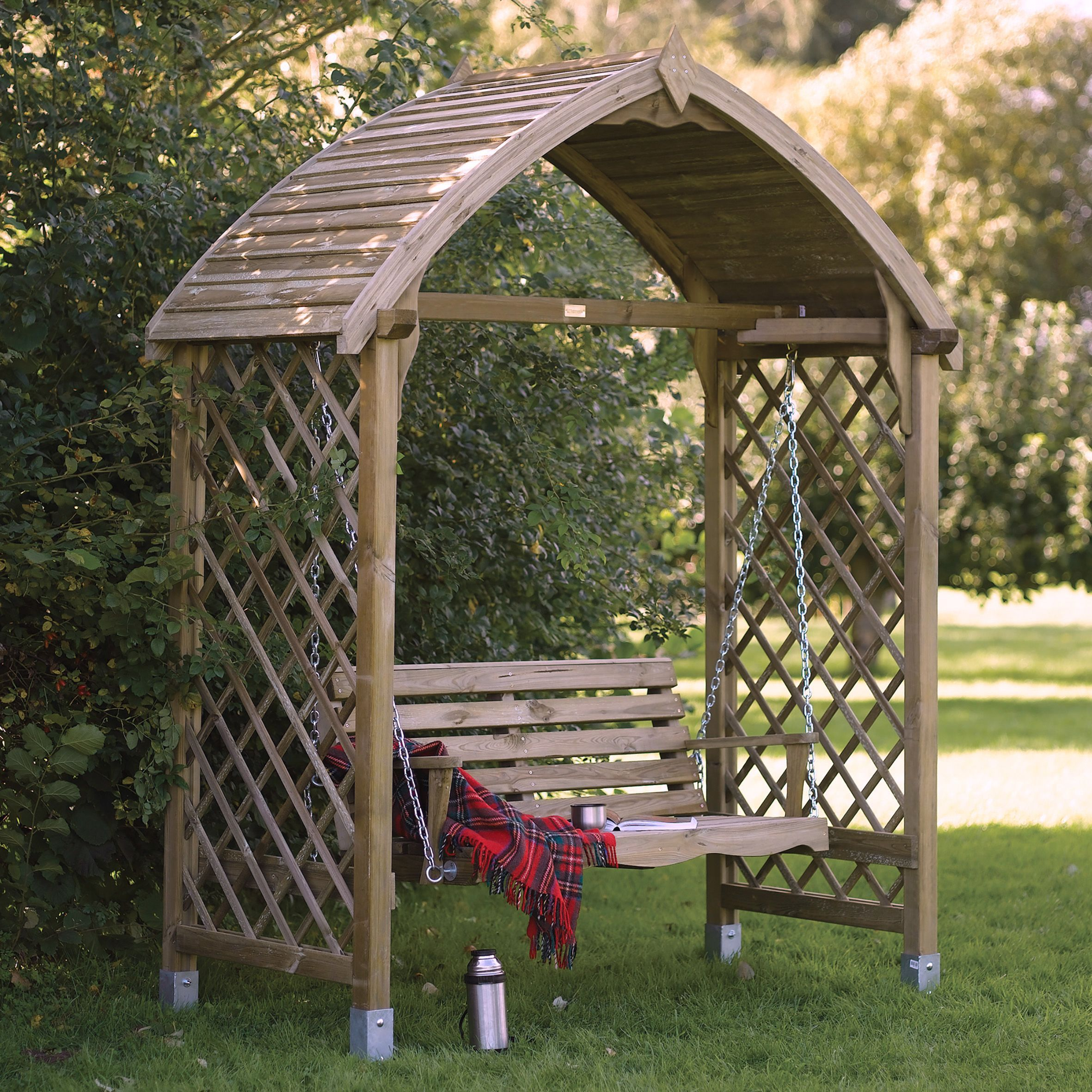 Barmouth Timber Swing Arbour Departments Diy At B Q Garden