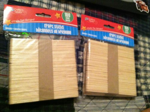 """2 Packs of 200 Total """"Craft Sticks"""" Natural Color Great Crafting Resource 