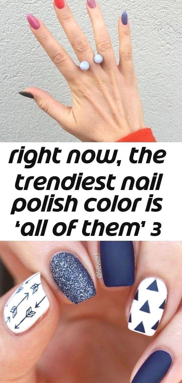 : #Color #Gradient #Nail #Nails #Polish #Rainbow
