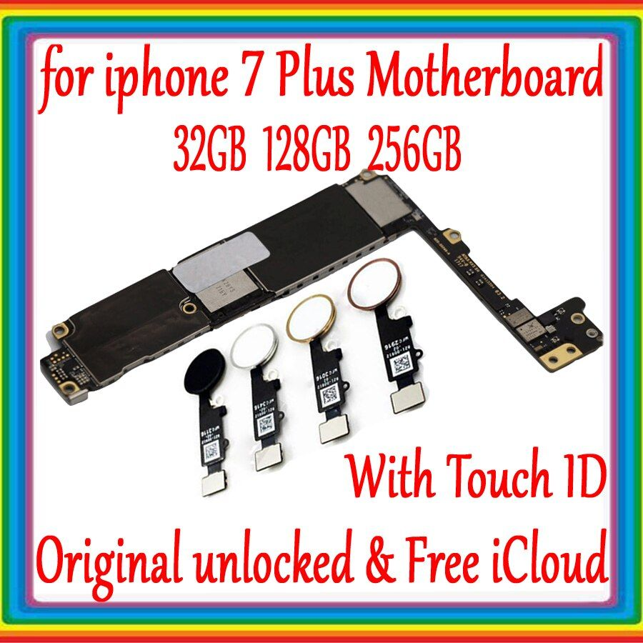 Factory unlocked for iphone 7 plus Motherboard With