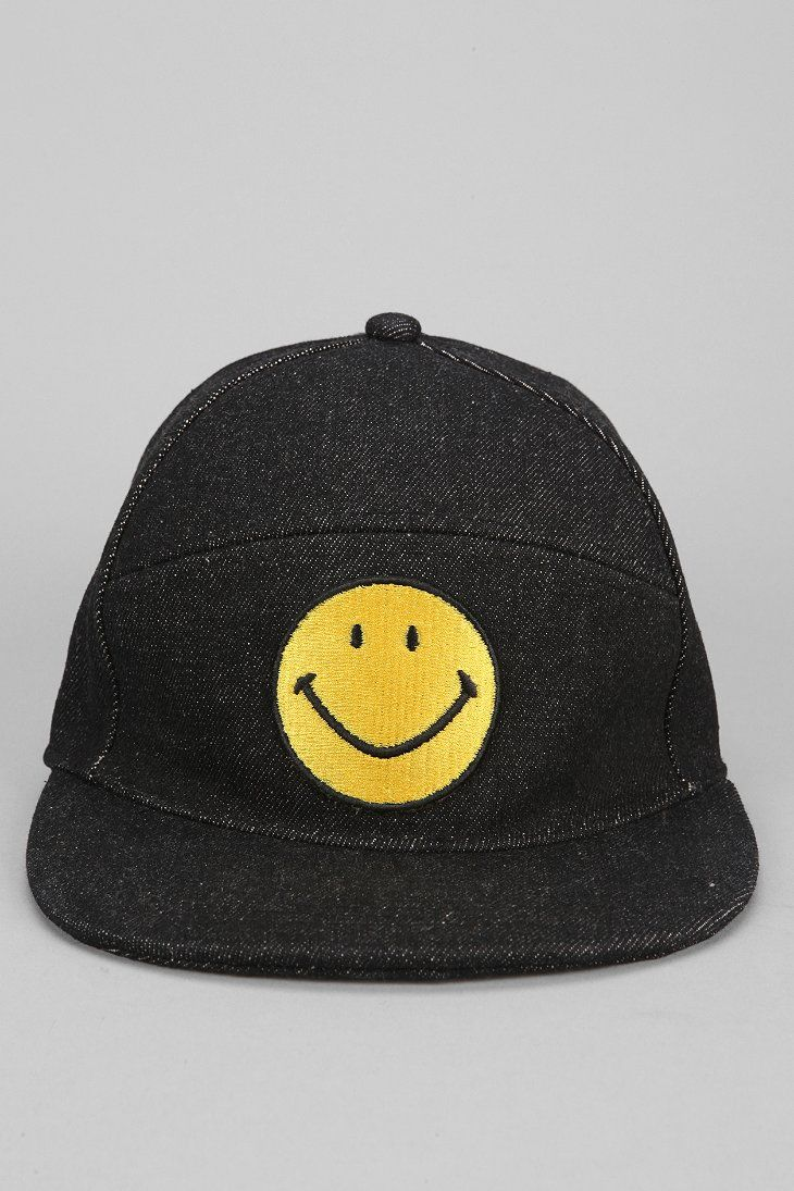 Smiley Face Snapback Hat Yellow Smiley Face Snapback Hats Urban Outfitters Hats