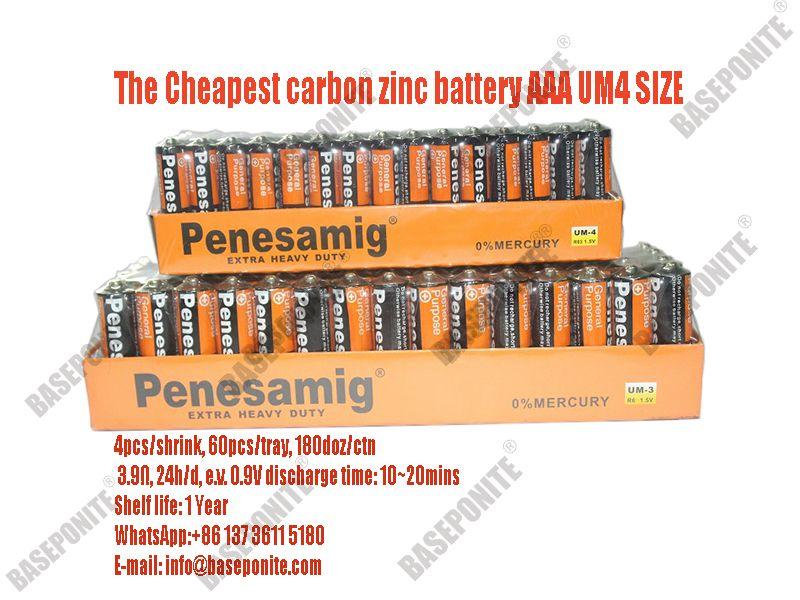 Cheapest Carbon Zinc Aaa Um4 R03s 1 5v Battery Zinc Dry Cell Carbon