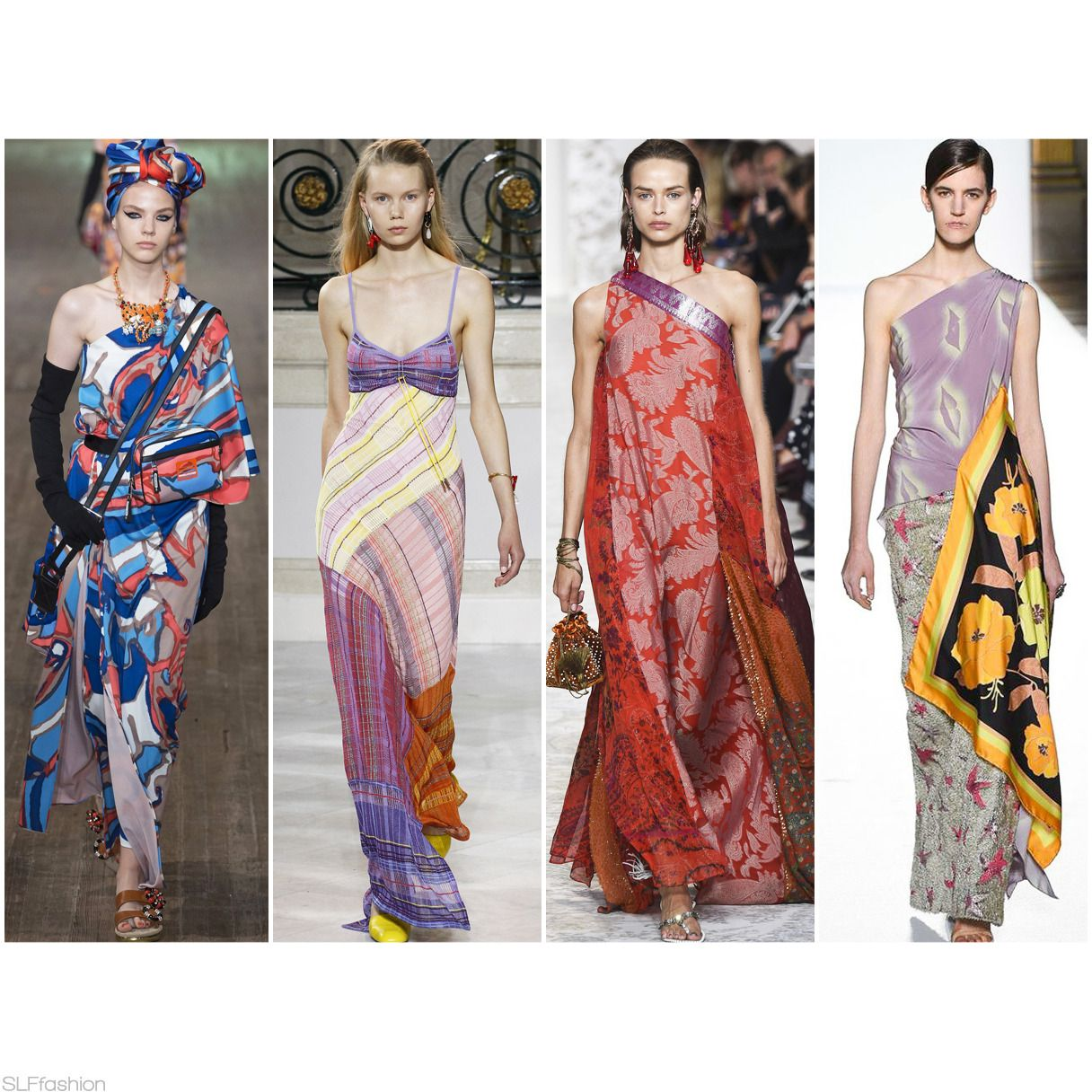 "Fashion Trend for SS18 ""The Scarf"": Bohemian Scarf Dress ..."