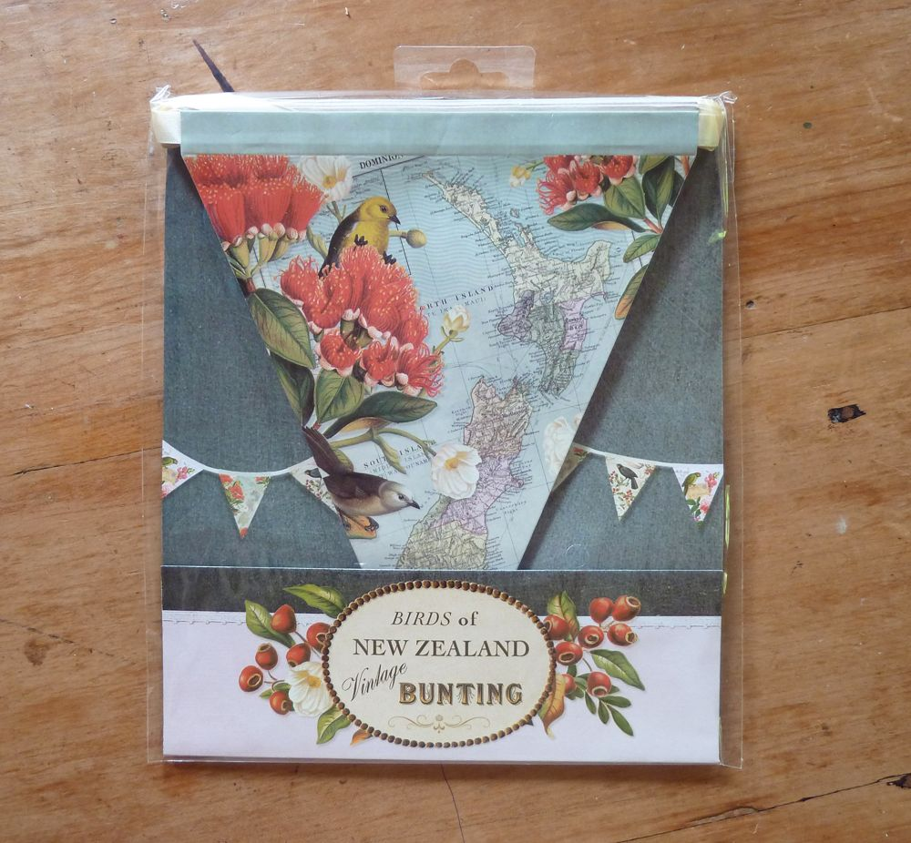 Book Covering Nz : New zealand birds vintage bunting by tanya wolfkamp for