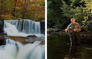 Beautiful natural streams abound in the Poconos.