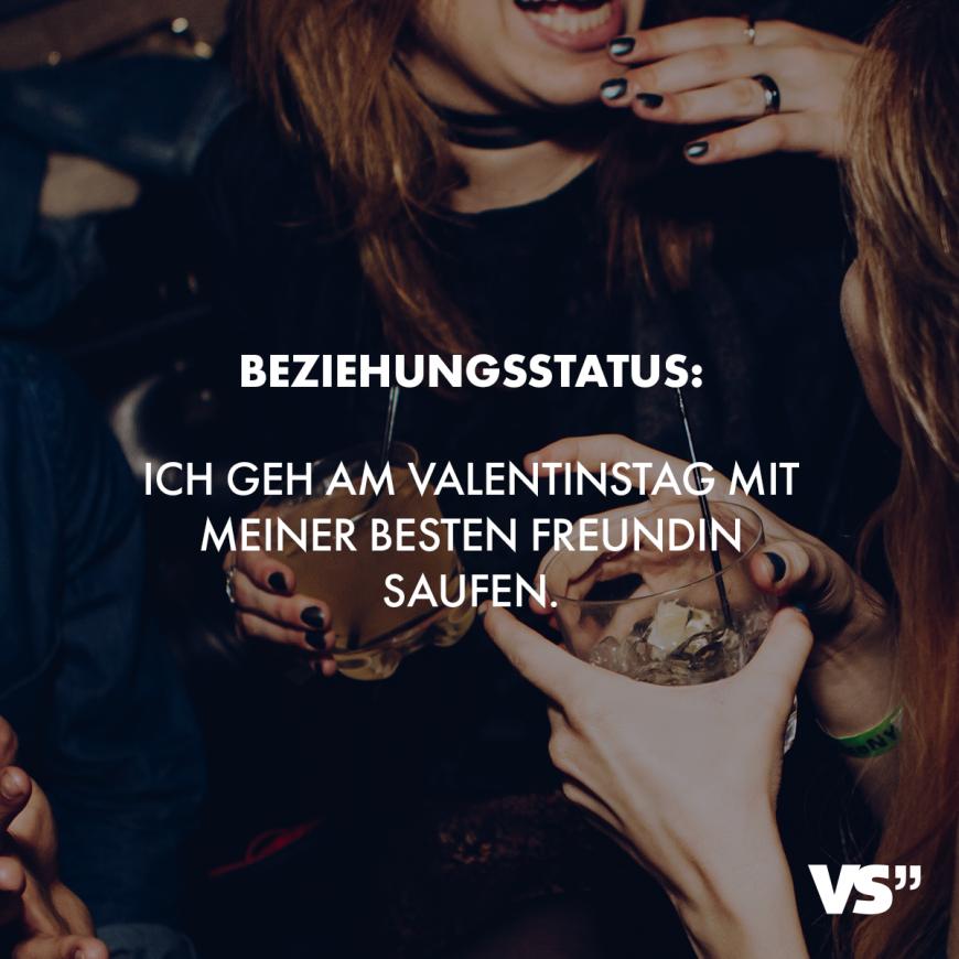 Visual Statements Beziehungsstatus Ich Geh Am Valentinstag Mit