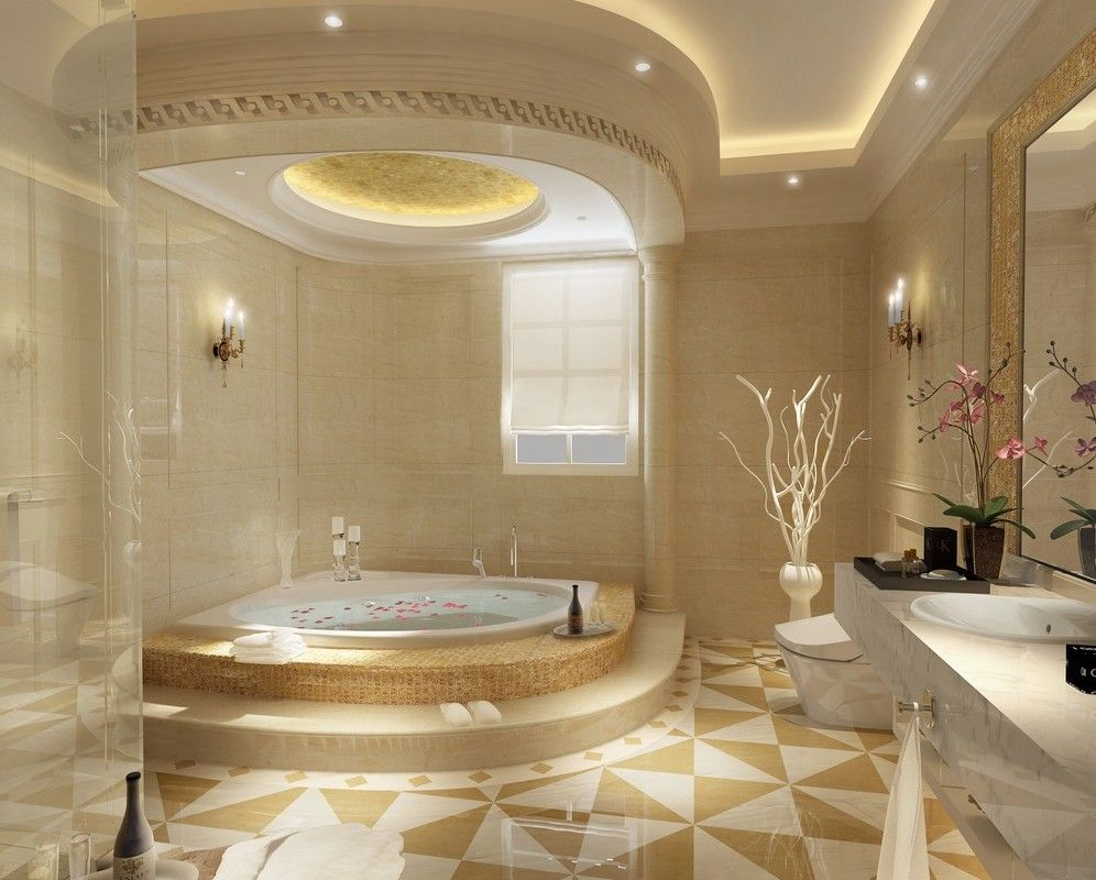 Luxury bathroom ceiling lights design http www - Luxury bathroom designs with stunning interior ...