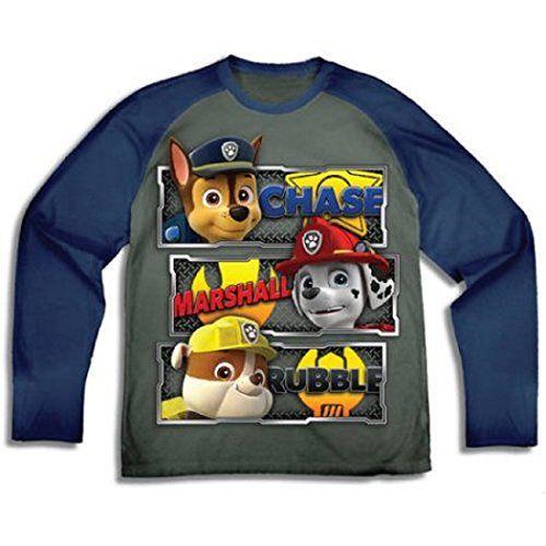 Paw Patrol Boys Chase Marshall Rubble Long Sleeve T Shirt