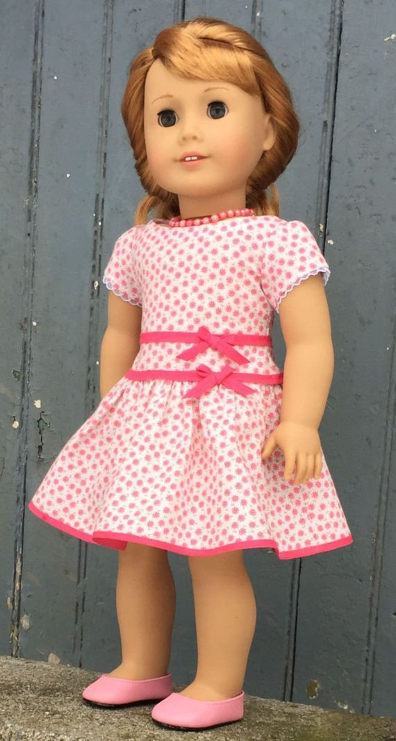 Fits American Girl doll: retro-style dress