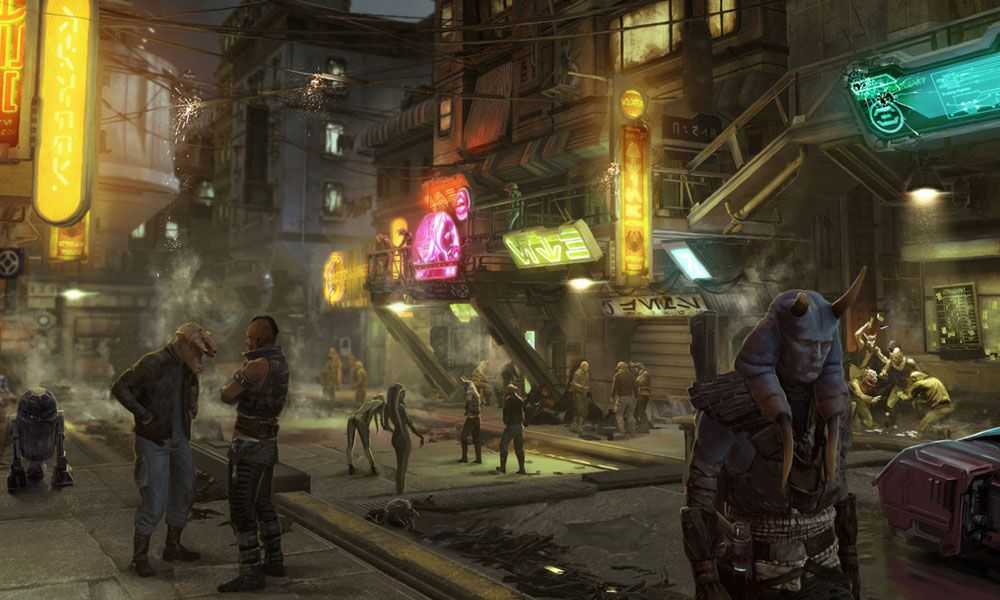 """Street View"" // Star Wars 1313, Game Concept Art (game"