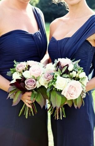 Lace Fall Vintage Attire Blue Bridesmaid Bridesmaids Dress