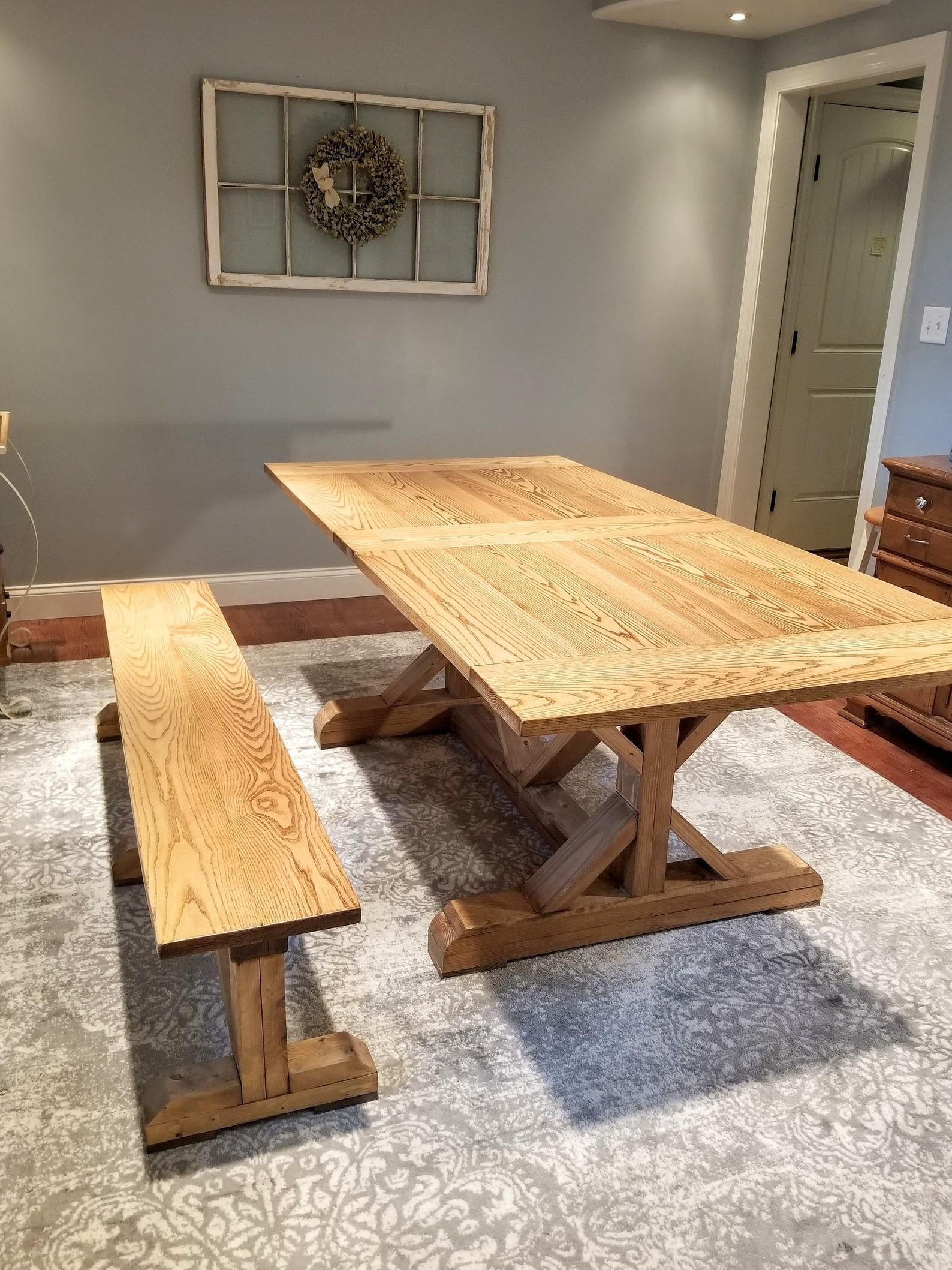 Expandable Farmhouse Table with Leaf Storage (With images