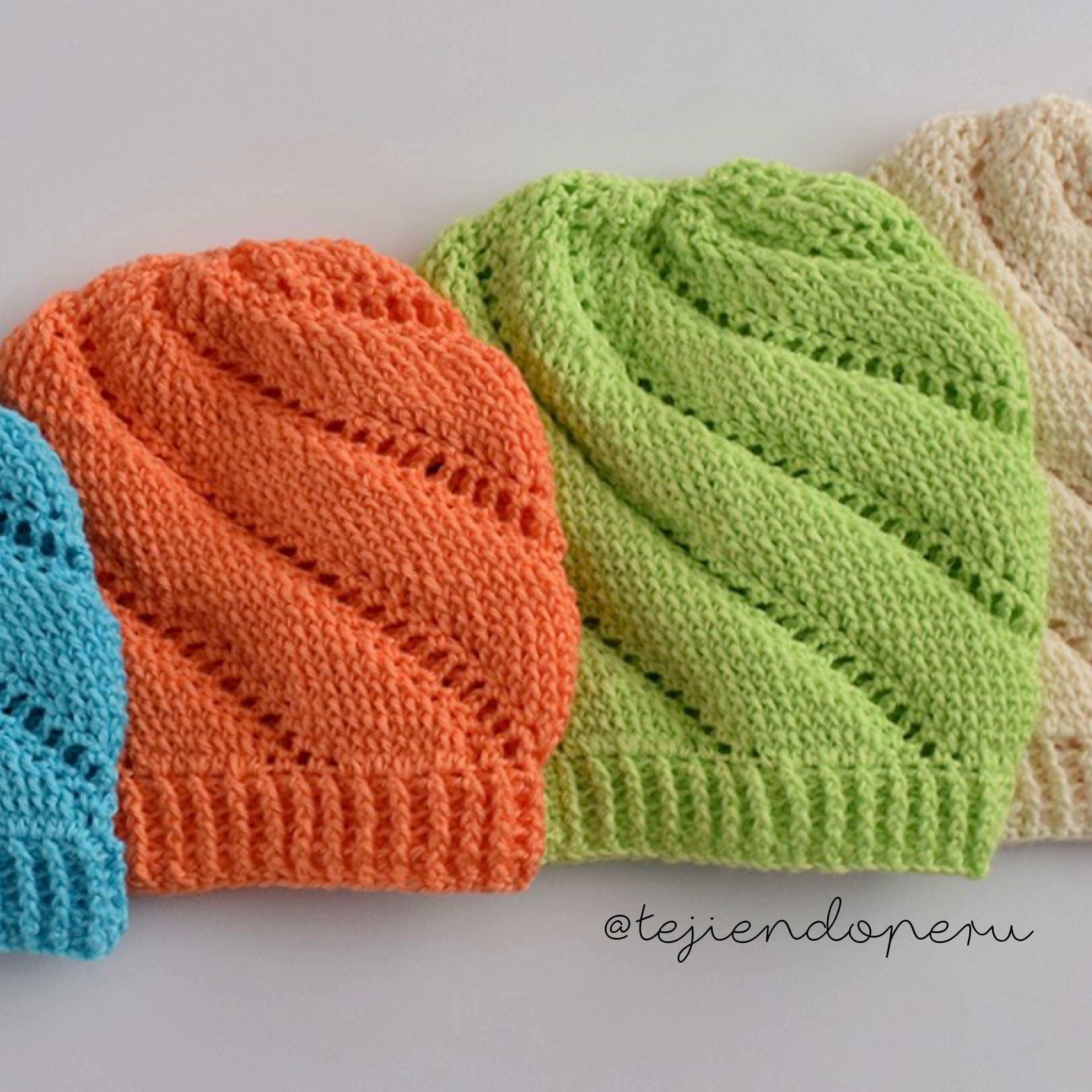 Gorros temolino tejidos a crochet pero que parecen tejidos a palitos ...