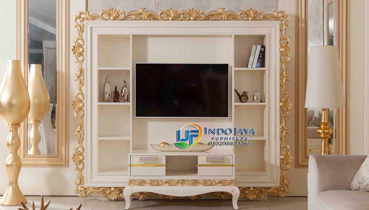 Set Bufet TV Jati Klasik Terbaru Modern Mewah Koltuk Luxury Living ...