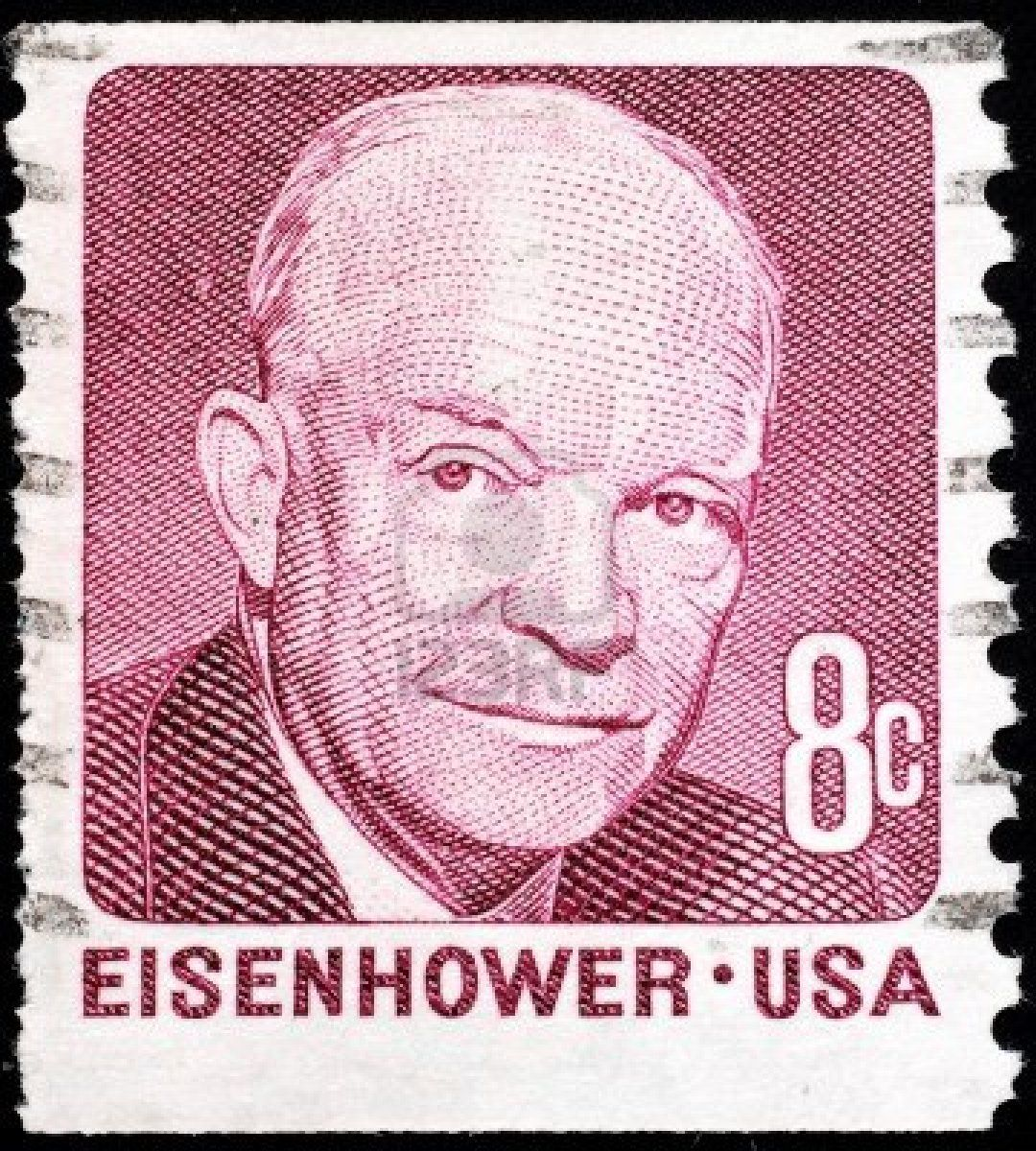 United States 1971 Postage Stamp Issued To Commemorate President Dwight D Eisenhower Stock Photo