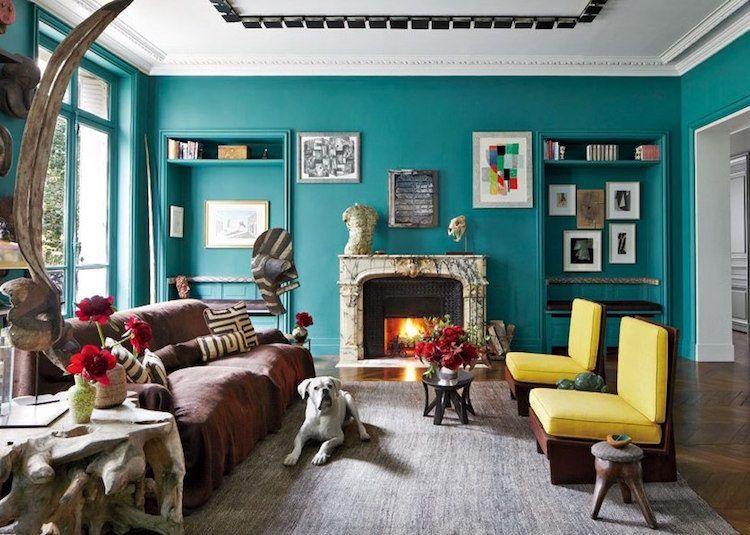 Déco salon bleu pétrole et bleu canard- comment en tirer le ...