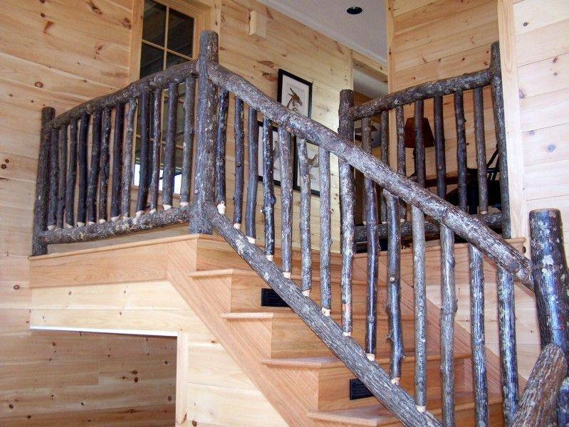 rustic hickory railing stairs in 2019 stair railing. Black Bedroom Furniture Sets. Home Design Ideas