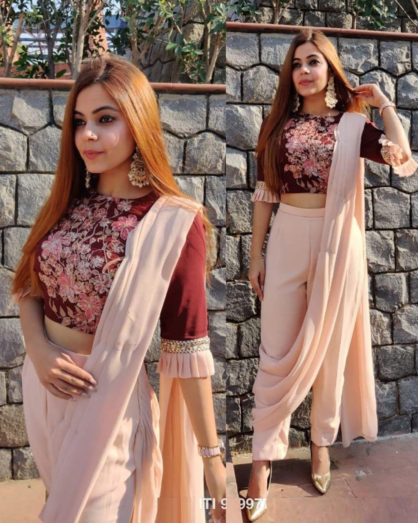 Stylish and latest fancy indo western outfit for w