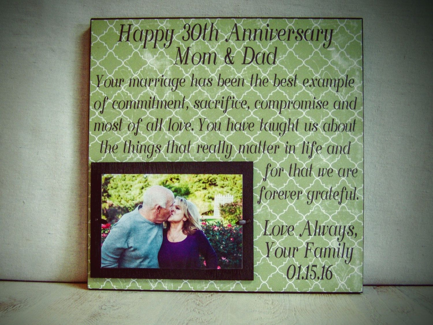 Personalized Anniversary Frame Wedding