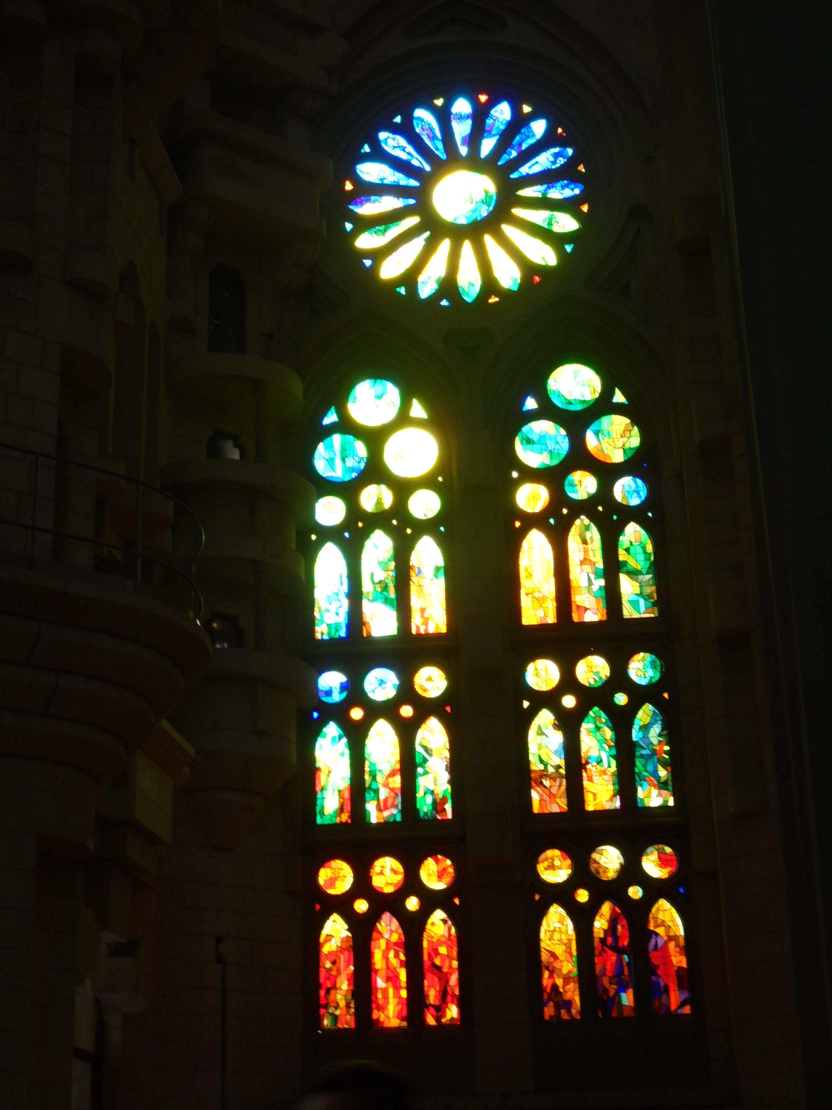 Vitrales Sagrada Familia Barcelona Sagrada Familia Vitrales Sagrado
