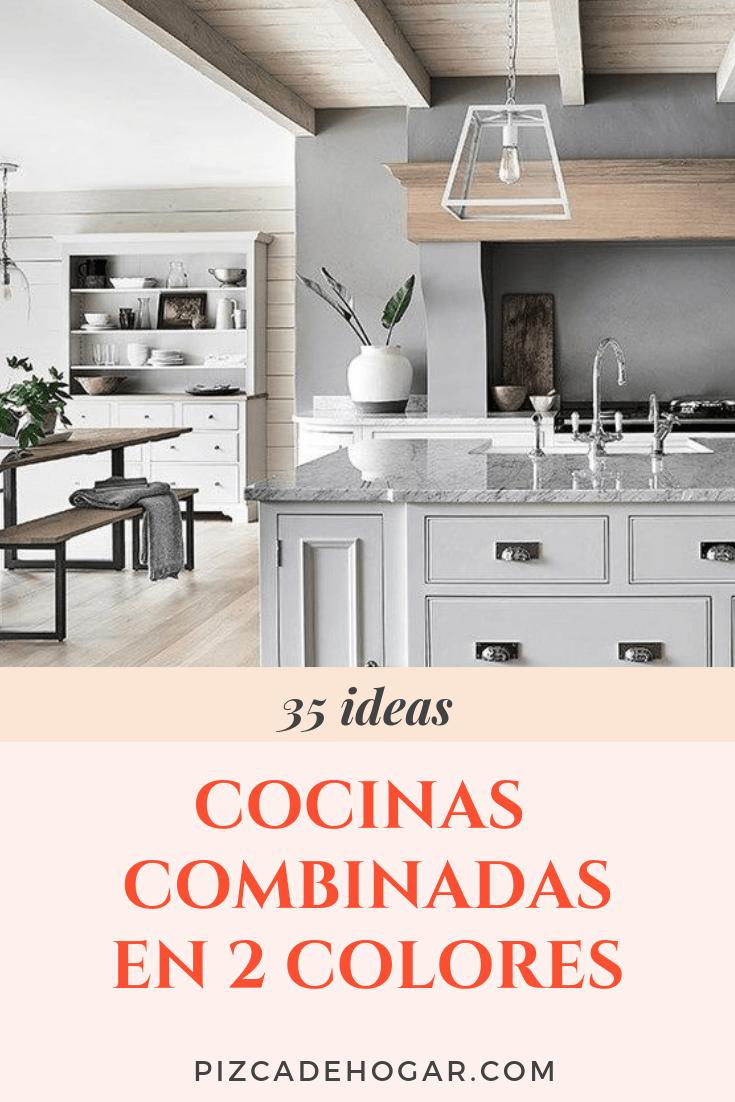 Cocinas Combinadas En Dos Colores 35 Ideas Cocinas Diseno De Cocina Disenos De Unas