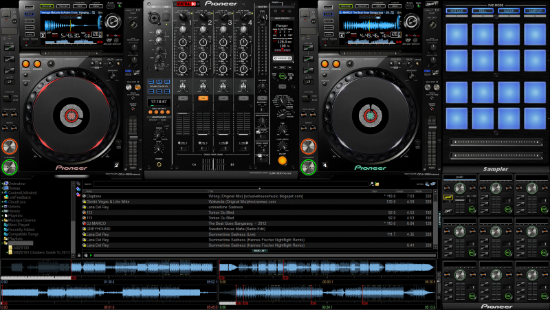 VIRTUAL DJ SOFTWARE - Skin Pioneer CDJ2000 NEXUS + DJM900 NEXUS