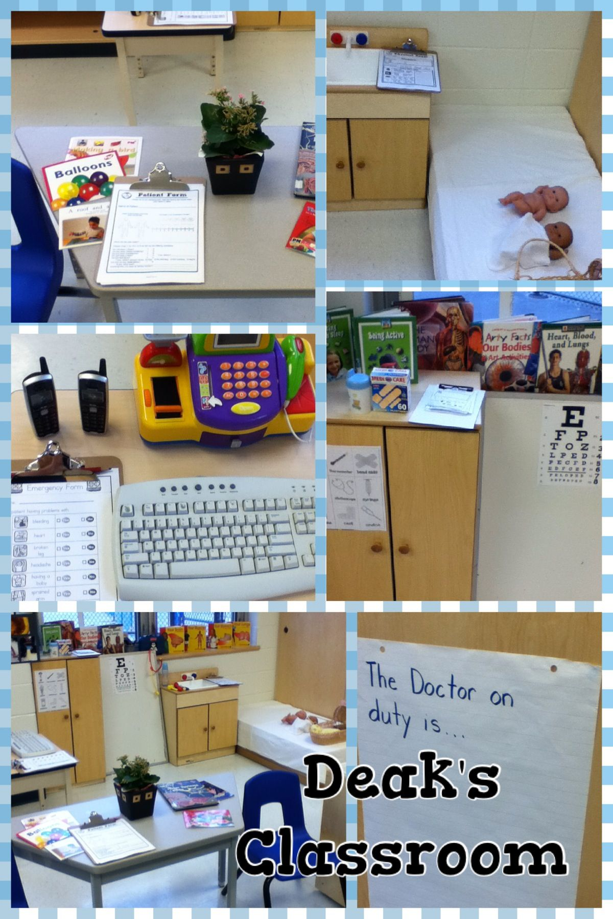 Doctor's office - dramatic play ~ Deak's classroom