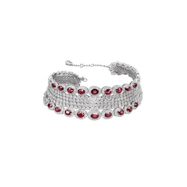 Ruby my love adler ❤ liked on Polyvore featuring jewelry, necklaces, ruby jewelry, ruby jewellery and ruby necklace