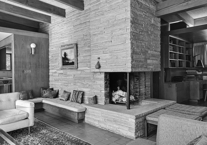 1950u0027s Ranch House | Bing Images. Like The Stone Fireplace.