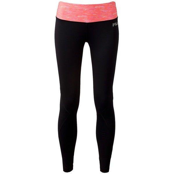 FILA SPORT® Space-Dye Reflective Performance Running Leggings ($18) ❤ liked on Polyvore featuring activewear, activewear pants, bottoms, sport, pants, leggings, gym, logo sportswear, sports jerseys and sport jerseys