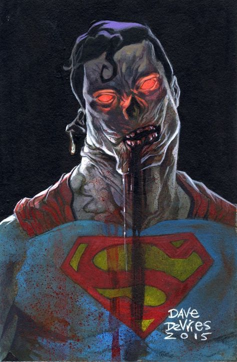 Superman Fan Art Zombie By Dave DeVries