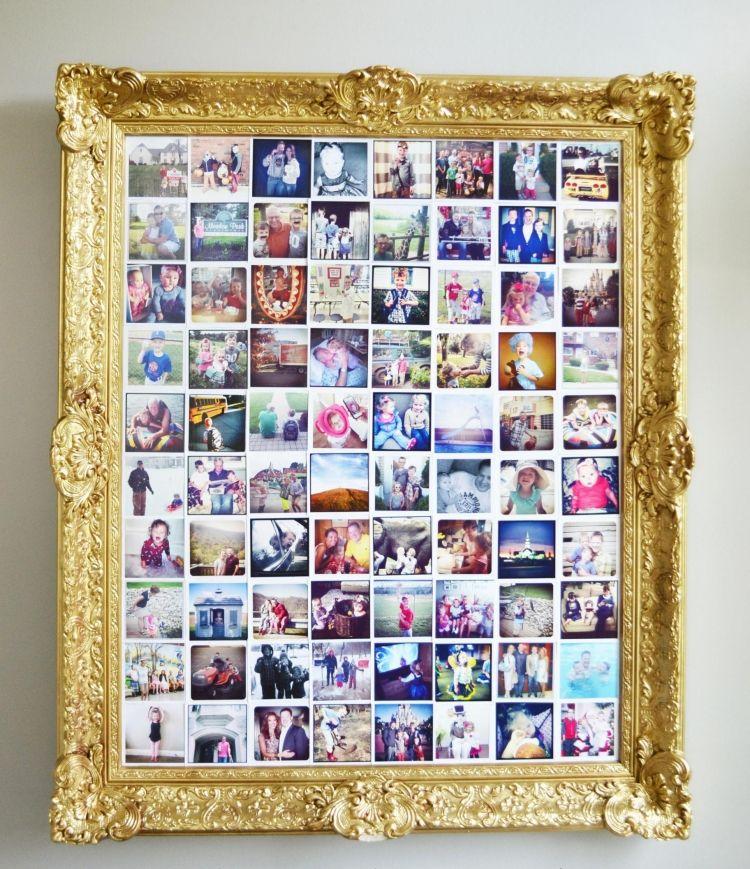 bilderrahmen dekorieren ideen selber machen gold vintage praechtvoll polaroid fotos deko in. Black Bedroom Furniture Sets. Home Design Ideas