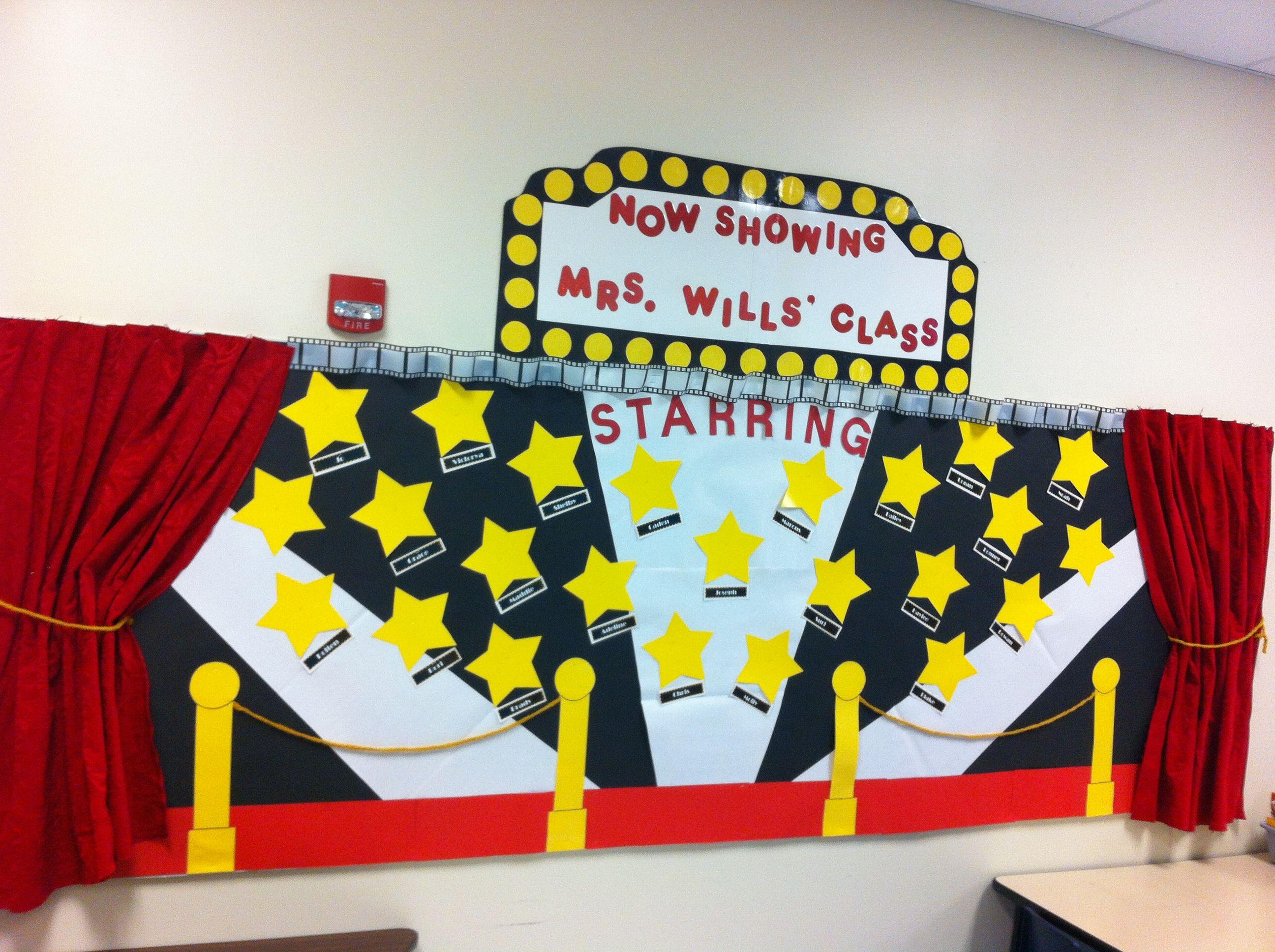 my hollywood movie themed bulletin board classroom