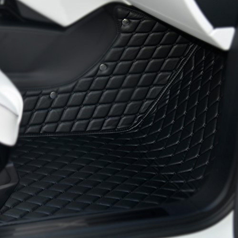 Topfit Customized Car Floor Mat for Tesla Model X 7 Seat Black