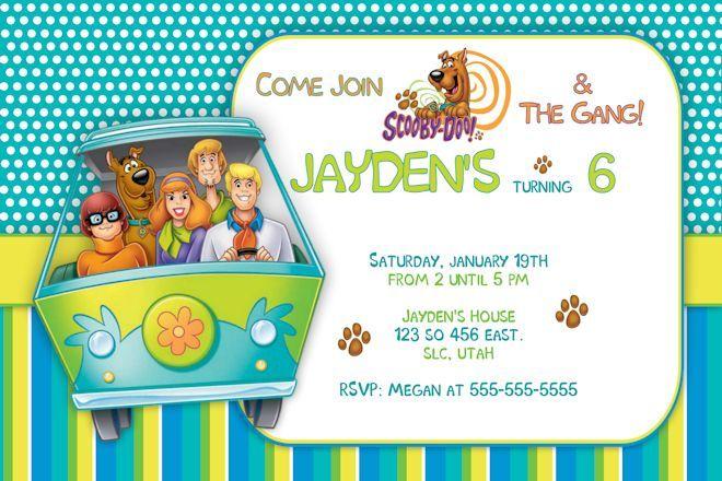 scooby doo birthday party invitations