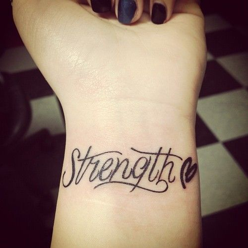 """Love this without the heart. Would love to get """"STRENGTH ..."""