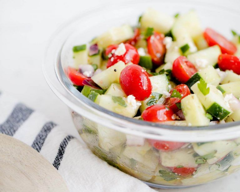 Tomato Cucumber Salad Cucumber Tomato Salad - This family favorite is fresh & full of flavor! Makes the perfect light and healthy side dish for summer! #cucumber