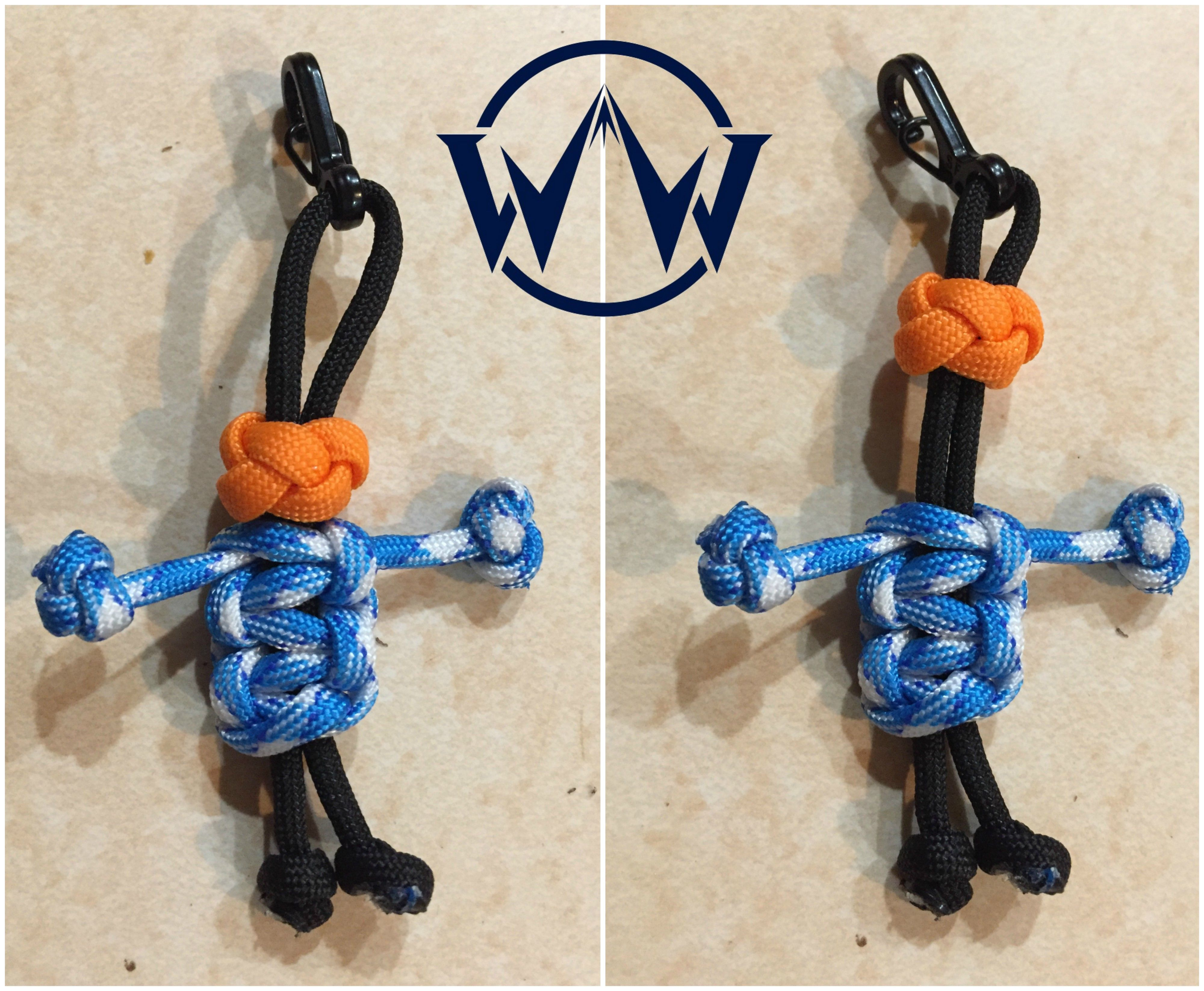 Paracord Keychain made with node Ranger Bead