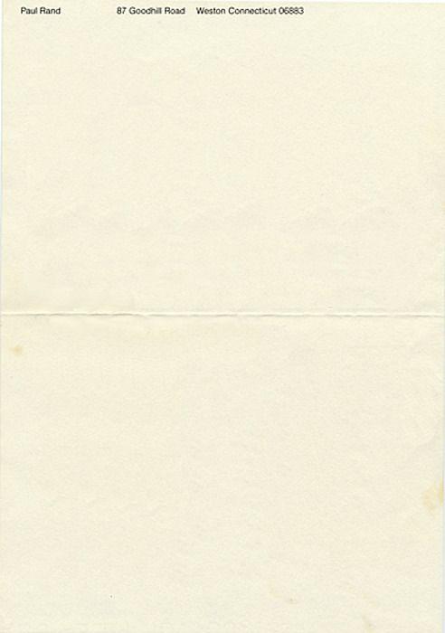 Paul Rand\'s own letterhead -- very minimal | Art + Graphics I love ...