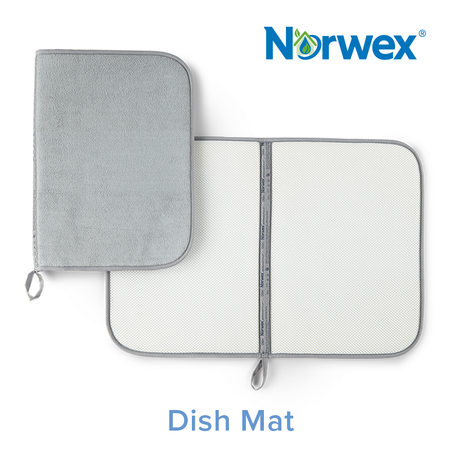 Dish Mat Graphite Norwex Cleaning Dishes Dish Drying Mat