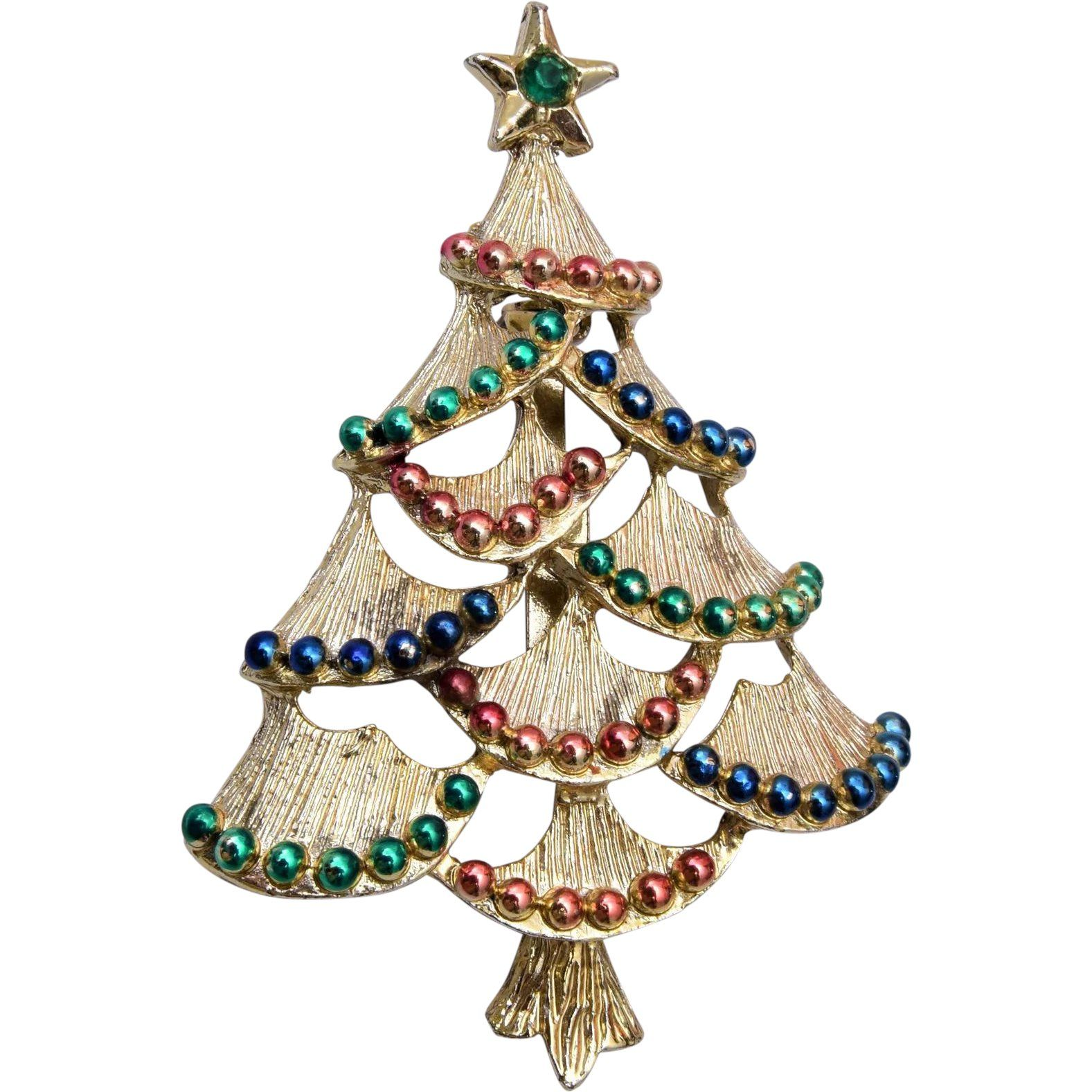 Gerry's Christmas Tree Brooch ---- 50% OFF SALE Starting ...