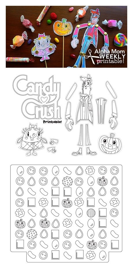 Candy Crush Character Puppets DIY and Printable | Digi ...