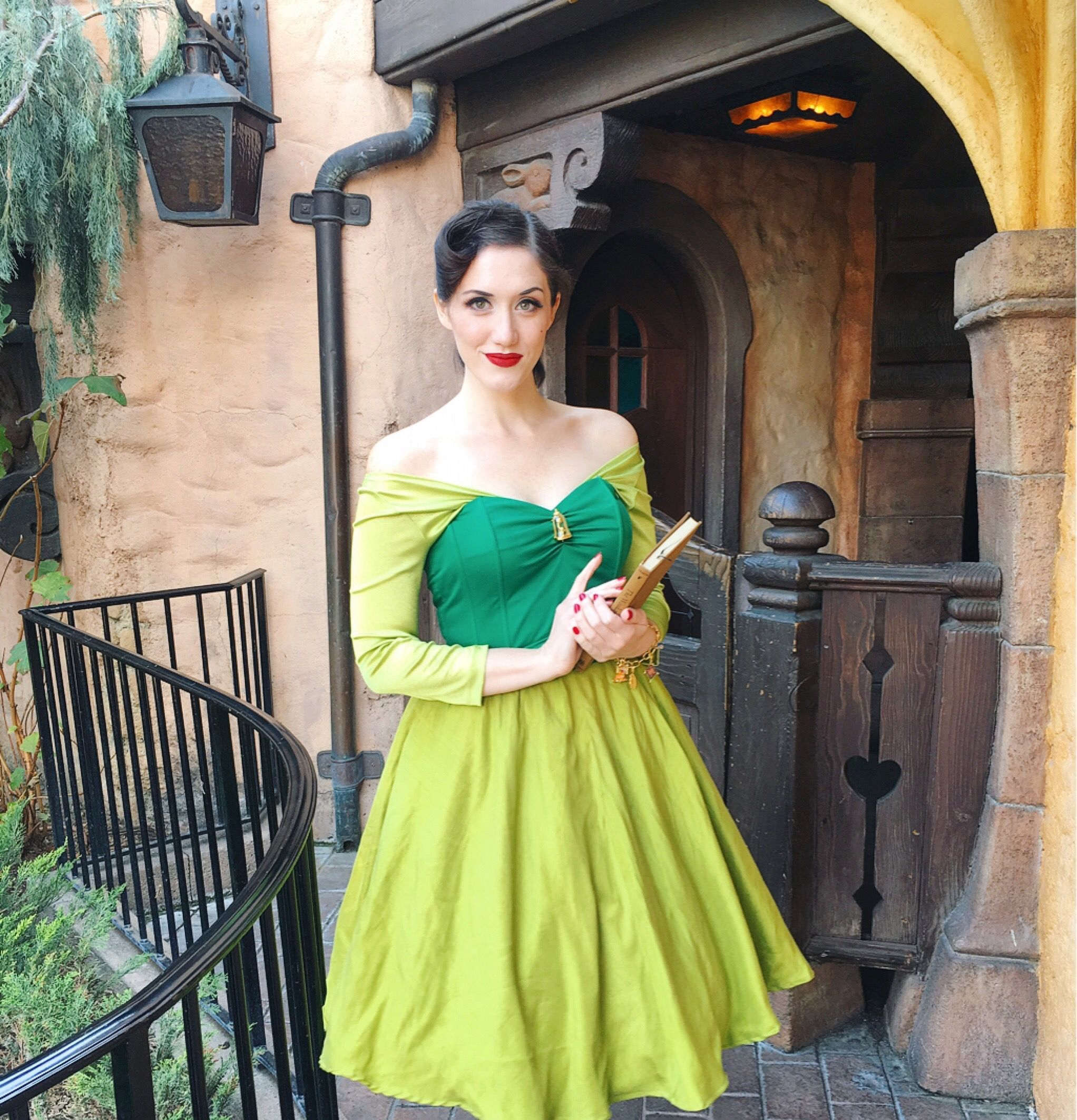 7f88a913ef4 Green library dress Belle Beauty and the Beast Disneybound Disneyland