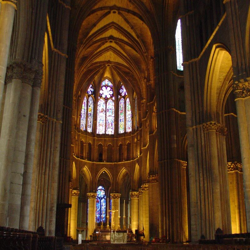 Captivating Interior Of The Cathedral    Notre Dame De Reims, Paris, France